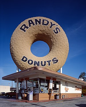 English: Randy's Donuts, colloquially known as...
