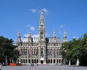 Rathaus (Town hall) in Vienna, Austria