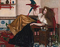 Reclining Woman with a Parrot by Valentine Cameron Prinsep.jpg
