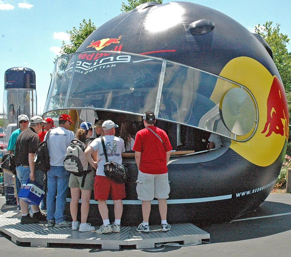 Red Bull helmet stand