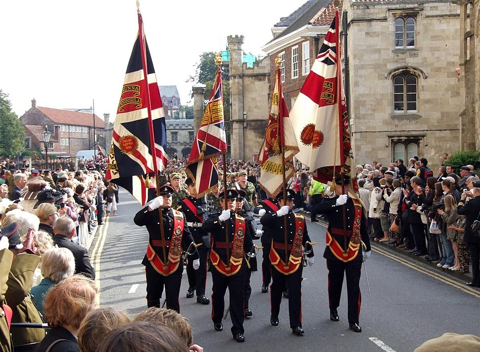 Regulation %26 Honorary Colours of the 3rd Bn Yorkshire Regiment (Duke of Wellington%27s) York 2007-09-22