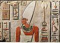 Relief of Nebhepetre Mentuhotep II and the Goddess Hathor MET DP322048.jpg