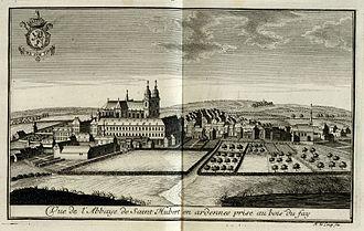 Abbey of Saint-Hubert - An 18th-century view of Saint-Hubert