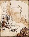 Rembrandt Harmenszoon van Rijn - The Prophet Jonah before the Walls of Nineveh, c. 1655 - Google Art Project.jpg