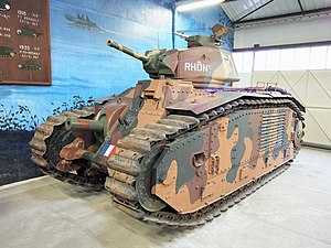 Renault B1 bis,Tanks in the Musée des Blindés, France, pic-9.jpg
