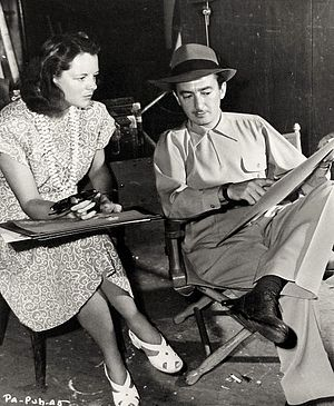 Renié - Renié and director John H. Auer on the set of Pan-Americana (1945)