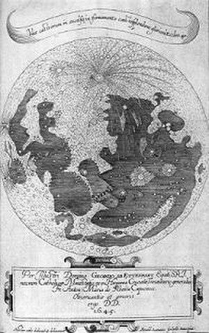 Anton Maria Schyrleus of Rheita - Schyrleus of Rheita's lunar map (1645)