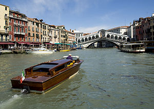 Venice - Venice in spring, with the Rialto Bridge in the background