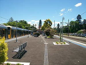 Richmond railway station, Sydney - Westbound view in January 2012