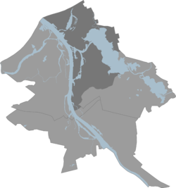 Location of the Northern District within Riga City