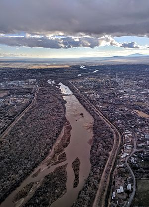 Rio Grande looking south, west of ABQ