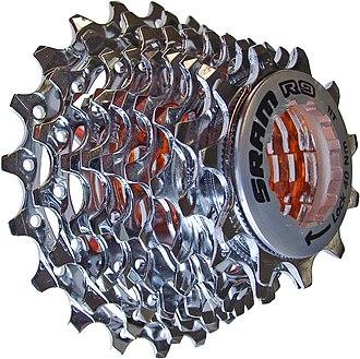 Derailleur gears - 9x multiple sprockets of a Derailleur gear