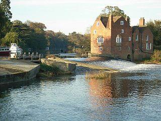 Fladbury village in United Kingdom