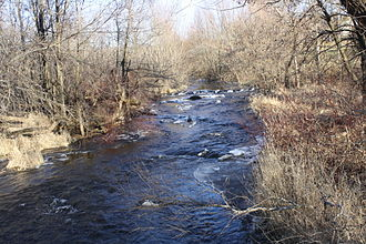 Milwaukee River - The east branch just west of New Fane