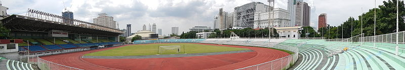 Panorama van Rizal Memorial Stadium