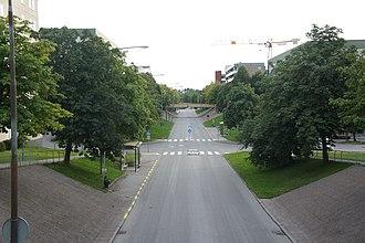 Tensta - Image: Roads in Tensta