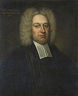 Robert Jenkin Master of St Johns College