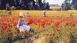 Robert Vonnoh: In Flanders Field - Where Soldiers Sleep and Poppies Grow