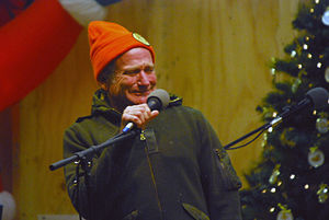 Robin Williams - Williams performing stand-up comedy at a USO show on December 20, 2007