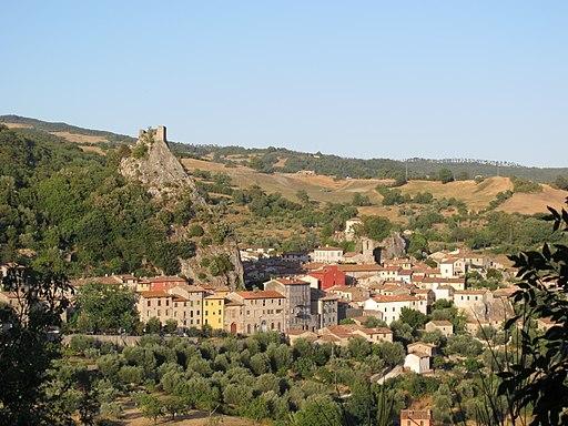 Roccalbegna, panorama