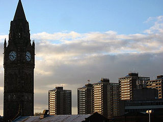 Rochdale Town in Greater Manchester, England