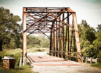 National Register of Historic Places listings in Creek County, Oklahoma - Image: Rock Creek Bridge on Old Route 66