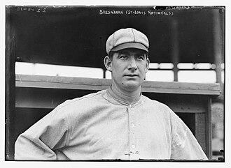 Roger Bresnahan - Image: Roger Bresnahan, St. Louis, NL (baseball) (LOC)