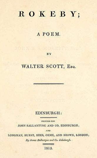 Rokeby (poem) - First edition title page