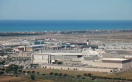 Rome Fiumicino airport is also located near the river. Rom Fiumicino 2011-by-RaBoe-02.jpg