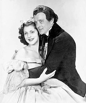 Diana Barrymore - Diana Barrymore and Robert Keith in Romantic Mr. Dickens (1940), Barrymore's Broadway debut