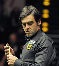 Ronnie O'Sullivan and Michaela Tabb at German Masters Snooker Final (DerHexer) 2012-02-05 06 cropped.jpg