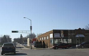 Rosendale, Wisconsin - Downtown Rosendale at the intersection of WIS 23 / WIS 26