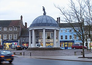 Swaffham - The Buttercross Swaffham market place.