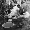 Royal Artillery cooks preparing Christmas dinner near Geilenkirchen, Germany, 25 December 1944. B13139.jpg