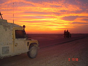 Royal Dragoon Guards - The RDG on patrol in Southern Iraq during Operation Telic 5.
