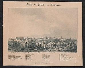 Ruine der Citadel van Antwerpen