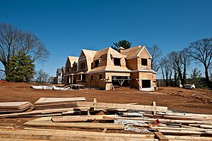 New home construction in Rumson, New Jersey.