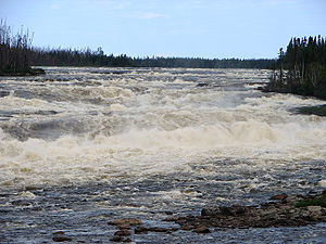Rupert River - The Oatmeal Rapids on the Rupert River.