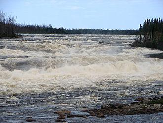 Rupert River - The Oatmeal Rapids on the Rupert River.