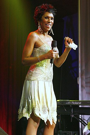 Ruth Pointer - Pointer performing with The Pointer Sisters at the Komen Center Pink Tie Ball, 2006.