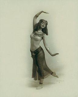 Ruth St Denis in Egypta 1910