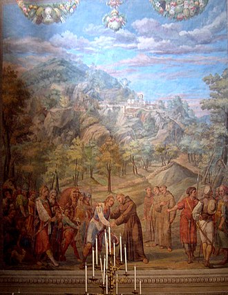 Baldassare Croce - St. Francis of Assisi receives laypeople into his Third Order by Baldassare Croce, 1602-1603.