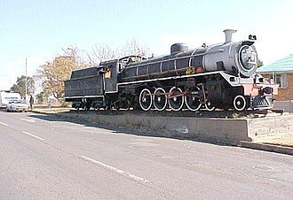 South African Class 19 4-8-2 - No. 1369 plinthed in Breyten, 11 June 2005