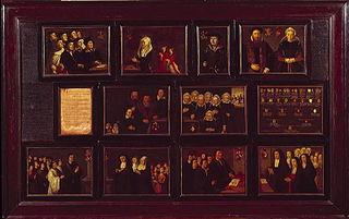 Portretten en kwartierstaat der voorouders van Gerrit Pietersz. Schaep van moederszijde