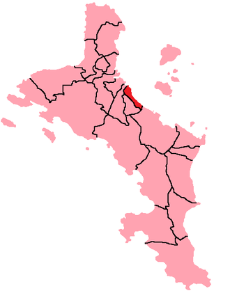Roche Caiman - Location of Roche Caiman District on Mahé Island, Seychelles