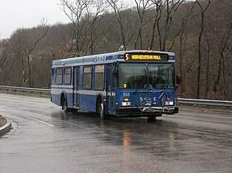 Southeast Area Transit - SEAT New Flyer D35LF 555 on CT Route 2 in Norwich, on Run 5 near the Norwich Transportation Center