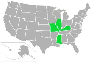 St. Louis Intercollegiate Athletic Conference - Image: SLIAC USA states
