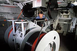 AN/SLQ-25 Nixie - Image: SLQ 25 Nixie aboard USS Iowa (BB 61)