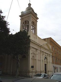 La facciata della chiesa della Santissima Annunziata