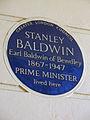 STANLEY BALDWIN Earl Baldwin of Bewdley 1867-1947 PRIME MINISTER lived here.JPG